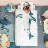 113420 SNURK Sängkläder - Vit Haj1