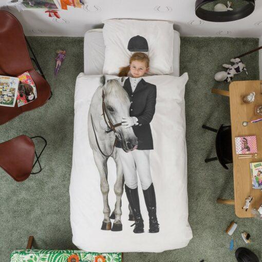 113421 SNURK Sängkläder - Hästtjej