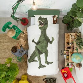 113425-5 SNURK Sängkläder - Dinosaurie Rex