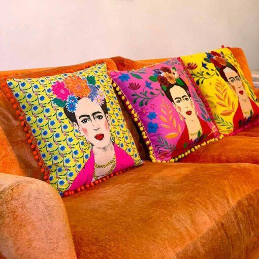 113432-2 Talking Tables Prydnadskudde Boho Gul Tassel Frida Kahlo™