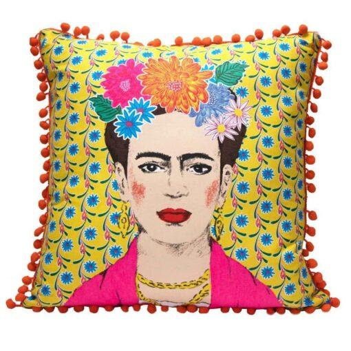 113432 Talking Tables Prydnadskudde Boho Gul Tassel Frida Kahlo™