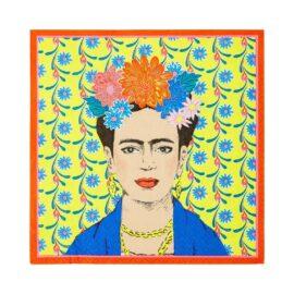 113434-1 Talking Tables Servetter Boho Frida Kahlo 33x33 cm 20 st