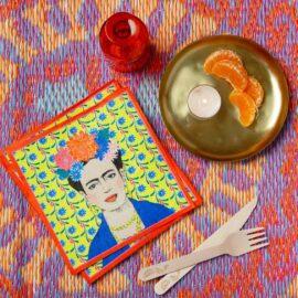 113434-2 Talking Tables Servetter Boho Frida Kahlo 33x33 cm 20 st