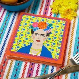 113434-3 Talking Tables Servetter Boho Frida Kahlo 33x33 cm 20 st