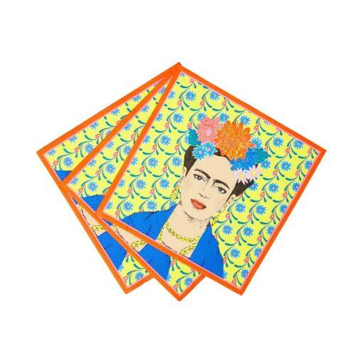 113434 Talking Tables Servetter Boho Frida Kahlo 33x33 cm 20 st