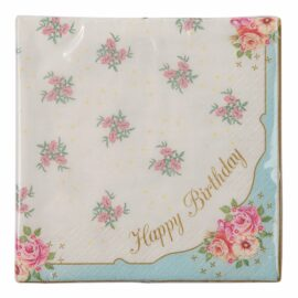 113435-1 Talking Tables Servetter Happy Birthday 33x33 cm 20 st - Truly Scrumptious