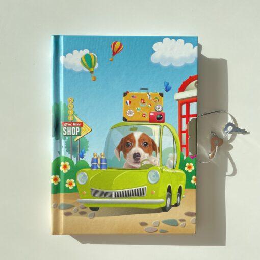 113454 Dagbok Hund med Lås