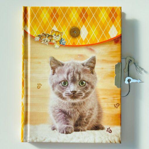113455 Dagbok Katt med Lås