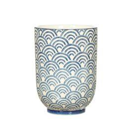 113495 Sass & Belle Tumbler Blå Sashiko-inspirerat Vågmönster - Japandi