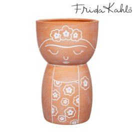 113519 Sass & Belle Handmålad Vas Byst Terrakotta - Frida Kahlo