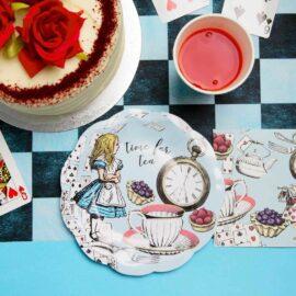 Talking Tables Alice i Underlandet Blå - Truly Alice2