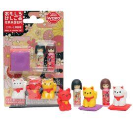 113573 IWAKO Japanskt Suddgummi DOLL & LUCKY CAT
