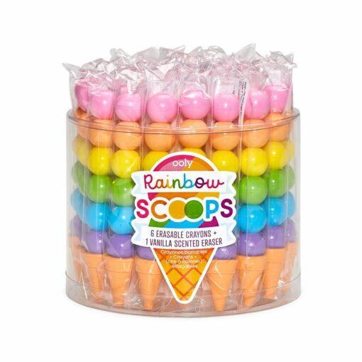 113589 OOLY Luktkritor med Vaniljdoft Raderbara Stapelbara Rainbow Scoops