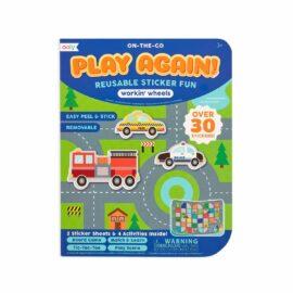113590 OOLY Aktivitets Kit med Flyttbara Klistermärken Play Again Mini Working Wheels