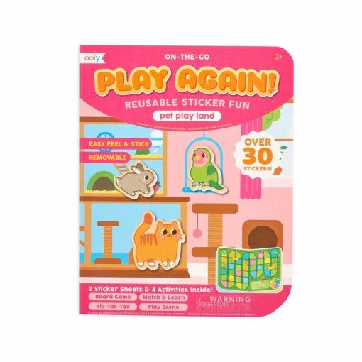 113591 OOLY Aktivitets Kit med Flyttbara Klistermärken Play Again Mini Pet Play Land