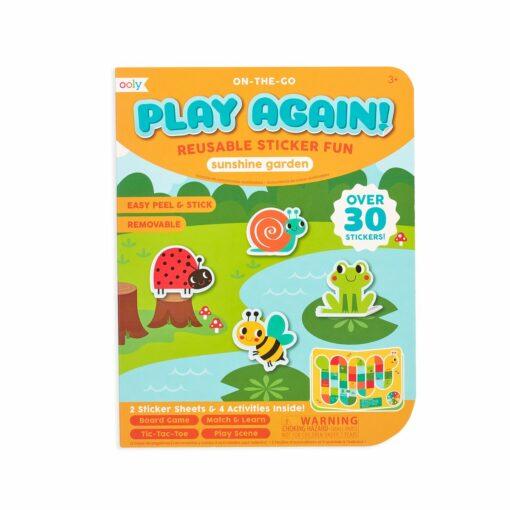 113592 OOLY Aktivitets Kit med Flyttbara Klistermärken Play Again Mini Sunshine Garden