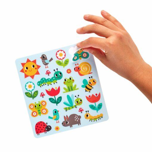 113592 OOLY Aktivitets Kit med Flyttbara Klistermärken Play Again Mini Sunshine Garden5