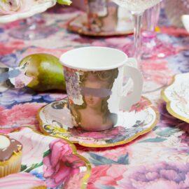 Talking Tables Papperskoppar Med Fat Vintage Kintsugi 12 st - Truly Scrumptious