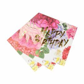 113632 Talking Tables Servetter Happy Birthday Vintage Kintsugi 33x33 cm 20 st – Truly Scrumptious