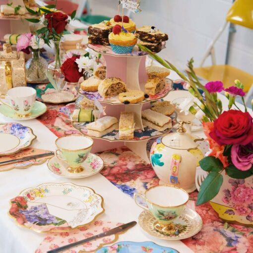 Talking Tables Kakfat Ställning Floral Vintage Kintsugi - Truly Scrumptious