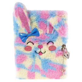 Tinka Dagbok i Plysch med Hänglås Rainbow Kanin