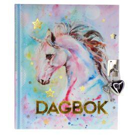 Tinka Dagbok med Hänglås Enhörning