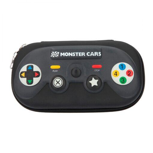 113607 Monster Cars Pennfodral Handkontroll Svart