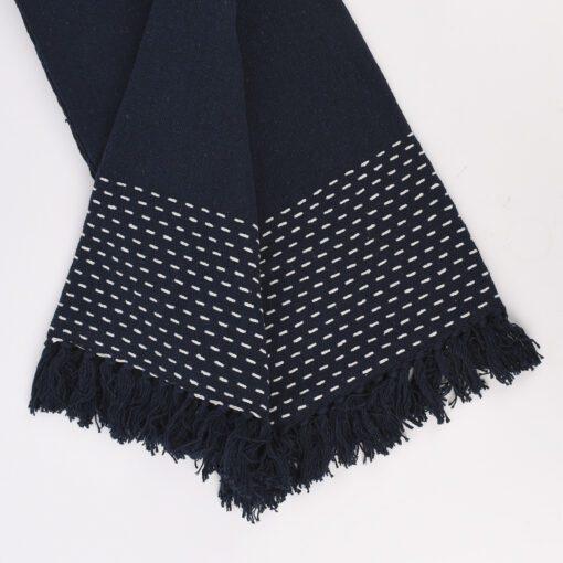 Sass & Belle Pläd Blå Sashiko - Japandi