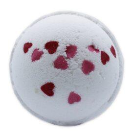113688 Badbomb Happy Bath Hjärtan med Blomdoft dia 7.5 cm 180 g