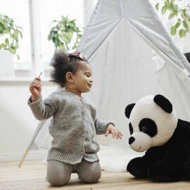 Molli Toys Gosedjur Stor Panda Li 60 cm