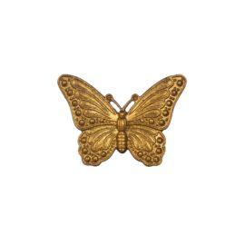 Sass & Belle Knopp Guld Fjäril i Vintage Stil