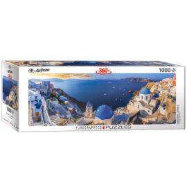 EuroGraphics Fine Art Pussel Panorama Santorini Greece 1000 bitar