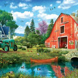 EuroGraphics Pussel The Red Barn Tin 1000 bitar