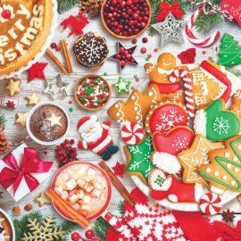 EuroGraphics Pussel Christmas Table Tin 1000 bitar