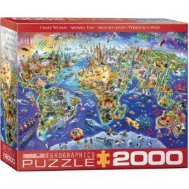 EuroGraphics Pussel Crazy World 2000 bitar