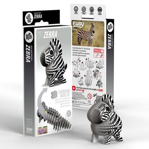 113819 EUGY Pussel i 3D Zebra