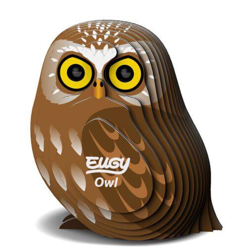 EUGY Pussel i 3D Uggla