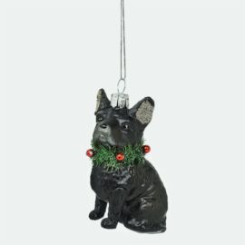 Sass & Belle Julgranskula i Glas Fransk Bulldog