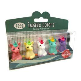IWAKO Japanskt Pusselsudd Unicorn Set