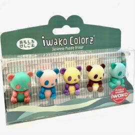 IWAKO Japanskt Pusselsudd Panda Set