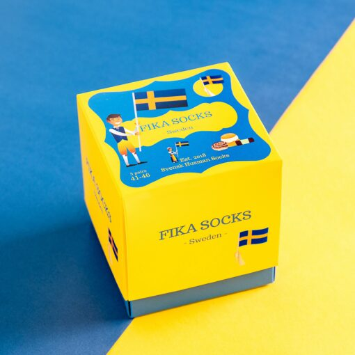 113969 Svensk Husman Strumpor Fika Sox Box 3-pack1