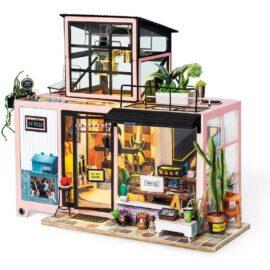 DIY-Byggsats Miniatyrrum Musikstudio, Kevin's Studio