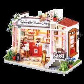 DIY-Byggsats Miniatyrrum Glassbar, Honey Ice Cream Shop